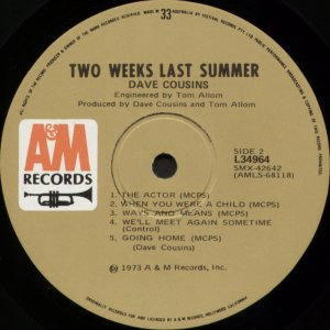 Two Weeks Last Summer Aus side 2 label