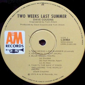 Two Weeks Last Summer Aus side 1 label