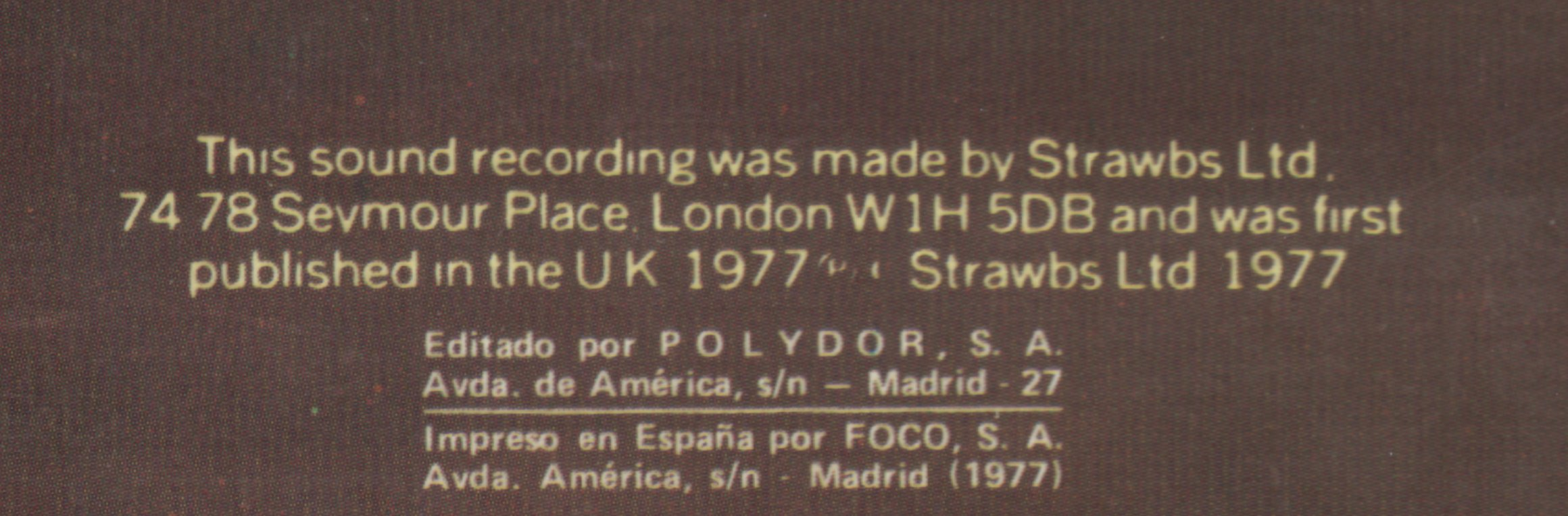 Burning Spanish back cover detail