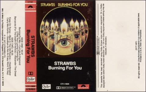 Burning US cassette outer cover